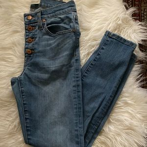 Madewell skinny button up cropped jeans
